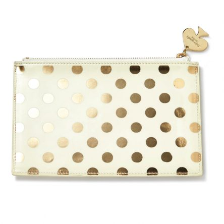 Kate Spade – Gold Dot Pencil Case